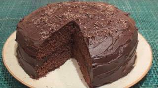 Chocolate Fudge Cake Recipe - YouTube