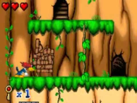 woody woodpecker racing game boy color