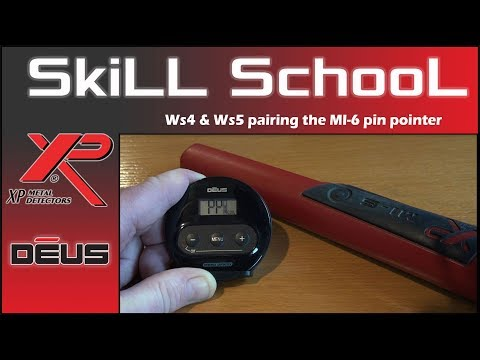 XP Deus pairing the MI-6 pinpointer to the Ws4 and Ws5 headphones