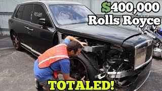 Video I Found a $400,000 Rolls Royce Cullinan at Salvage Auction! It should be SAVED! MP3, 3GP, MP4, WEBM, AVI, FLV September 2019