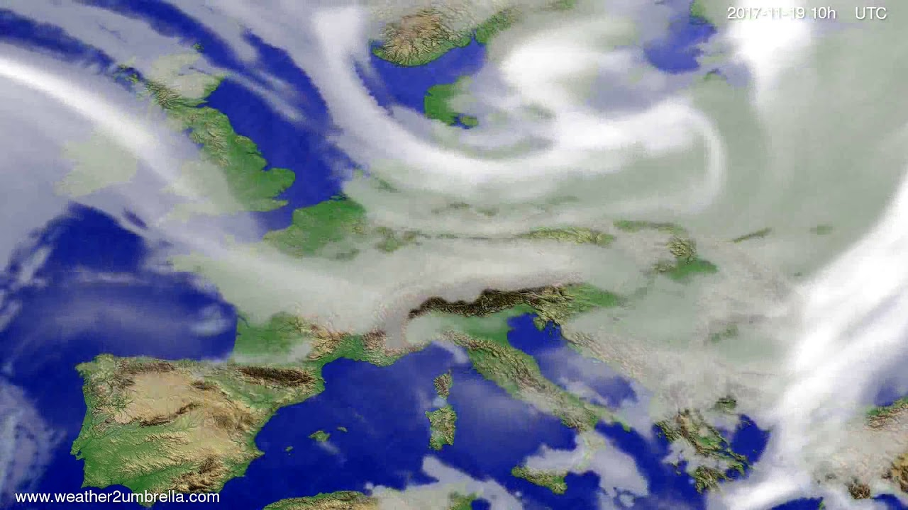 Cloud forecast Europe 2017-11-17
