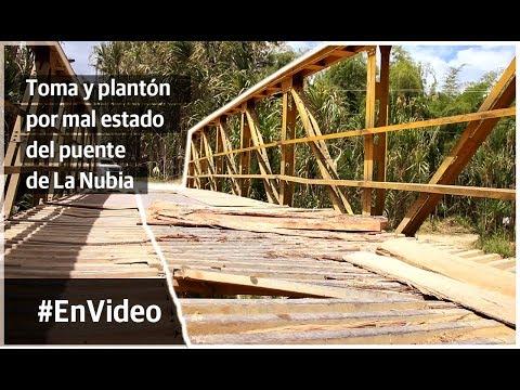 Este viernes, cinco veredas protestarán por daño en puente La Nubia