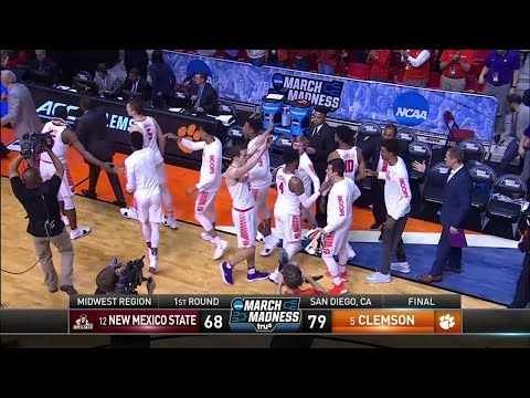 Clemson rolls past New Mexico State in the NCAA Tournament first round (видео)