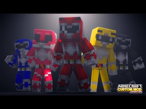 Minecraft - HOW TO BECOME A POWER RANGER - Custom Mod Adventure