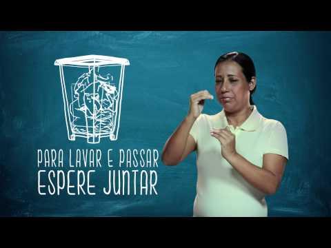 Campanha de Uso Racional de Energia - Libras - Lavar Roupa -Eletrobras Distribuição Rondônia