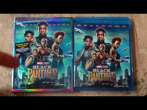 Marvel's BLACK PANTHER (2018) Blu-Ray Unboxing