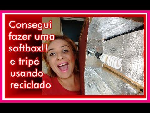 SOFTBOX COM TRIPÉ FEITO EM CASA -  DENISE SILVA - AMOR DA MAMÃE