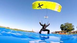 Parachute et slip'n slide en vidéo