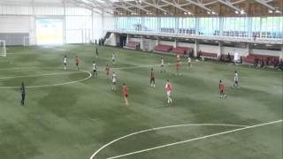UEFA A License: Coach a team to defend against vertically split strikers