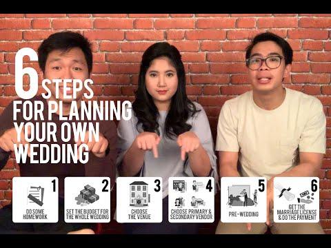 TIPS NIKAH 6 Langkah Mudah Merencanakan dan Mempersiapkan Pernikahan / Wedding Planning tanpa WO !