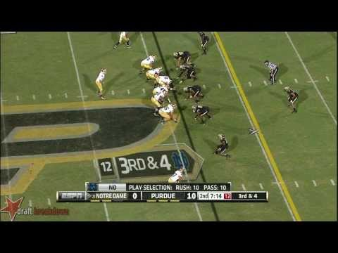 Ronnie Stanley vs Purdue 2013 video.