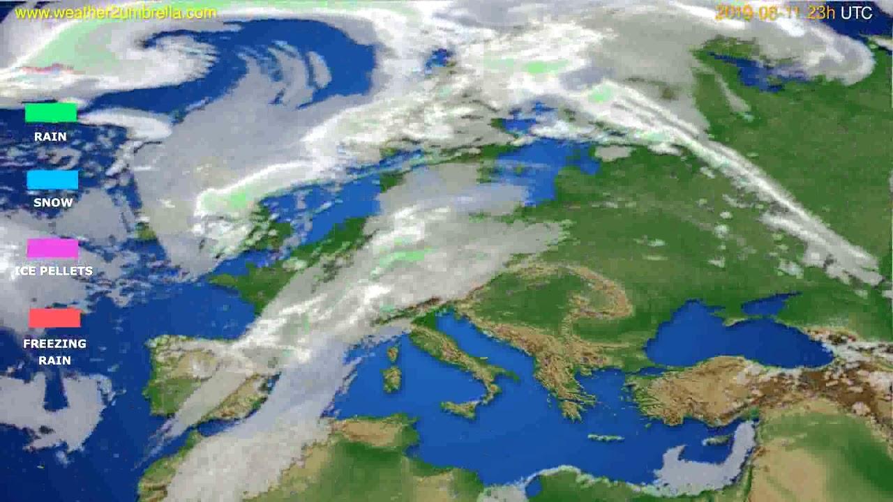 Precipitation forecast Europe // modelrun: 12h UTC 2019-08-08