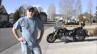 9. Yamaha V Star Before & After Exhaust Modifications hi def.wmv