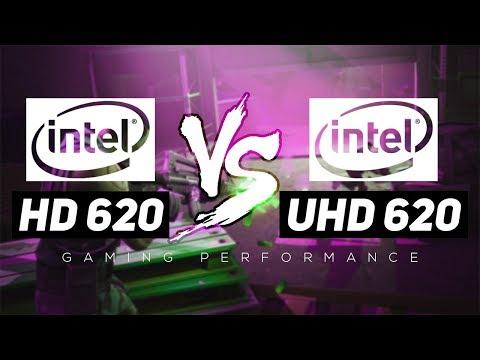 Intel HD 620 VS Intel UHD 620 - Gaming Performance!