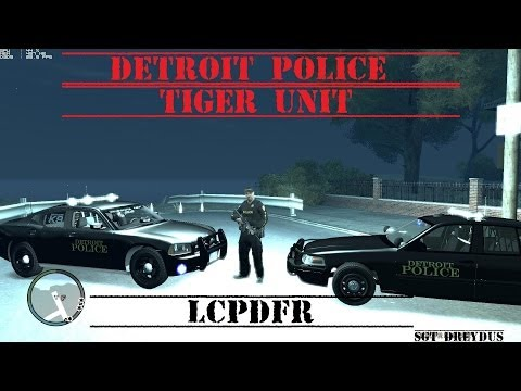 "LCPDFR GTA IV Detroit Police ""Tiger Unit""responds to a drug Call"