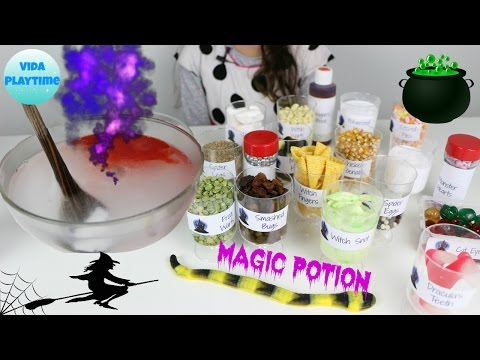 How to make your own magic witch potion - Fun indoors activity with kids
