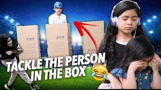 Video Tackle The Person In The Box Challenge | Ranz and Niana MP3, 3GP, MP4, WEBM, AVI, FLV Mei 2019