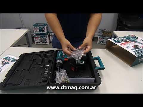 Taladro Atornillador Total Inalambrico 18V TIDLI228180-4