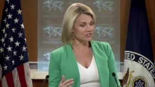 "Heather Nauert State Department Press Briefing North Korea & China, Donald Trump Jr Russia 20 July LIKE  COMMENT  SHARE  SUBSCRIBE & HIT THAT BELL TO NEVER MISS OUT! THANKS!――――――――――――――――――――――――――――――► Welcome to the President Donald Trump News Channel!► We Bring You The Latest News & Politics► Remember to Click the 🔔 BELL next to Subscribe Button► To Turn on Notifications! Thanks!► Subscribe ➠ Like ➠ Comment ➠ Share! ► Relax & Have a Great Time! ➤ If You Enjoy The Channel Please Consider To Subscribe➥ Its Greatly Appreciated! 🗽►Any Questions �►Don't Hesitate To Message Us! 📩――――――――――――――――――――――――――――――▼ Socials ▼► https://goo.gl/vEyj3D                                           Group► http://twitter.com/breakingbad263                   Twitter► http://www.facebook.com/breakingbad263    Facebook► https://goo.gl/3ifqdH                                           Google +► https://goo.gl/p6Hfol                                           Community[Open 24/7] TRUMP CHAT https://goo.gl/8qfa5C[LIVE STREAM] LINKhttps://goo.gl/OkcdqOPlaylists : ➠ Latest News & Politics Playlist https://goo.gl/muNB8L➠ Donald Trump Music Playlist https://goo.gl/Rra2dw➠ Donald Trump Playlist https://goo.gl/mu0dBj Enjoy All Events!➠ Google + Community https://goo.gl/yTR9F3★ [̲̅&̲̅] [̲̅M̲̅][̲̅O̲̅][̲̅R̲̅][̲̅E̲̅] ★We Bring You All The Latest News & Politics. Also We Show all President Donald Trump Press Conference, Speeches, Events. Including Sean Spicer Press Briefing From The White House. All Of This You Can Watch At Our LIVE STREAM Right Here! Watch Debates From The Senate Floor, Enjoy Our Chat! We Got Full Speeces In HD. Take A Look At Our Great Playlists! We Wish You A Great Time At Our Channel! Have A Great Day! ENPThe Footage We Use Is Owned By Our Government Which Falls Under Public Domain.No copyright intended. All content used in adherence to Fair Use copyright law.About the Video / Community Guidelines This footage is NOT intended to be violent or glorify violence in any way. We are sharing the footage STRICTLY for the purposes of news reporting and educating.Please See The Copyright Laws Below :Copyright Law 105. Subject matter of copyright: United States Government works Copyright protection under this title is not available for any work of the United States Government, but the United States Government is not precluded from receiving and holding copyrights transferred to it by assignment, bequest, or otherwise.Copyright Disclaimer Under Section 107 of the Copyright Act 1976, allowance is made for ""fair use"" for purposes such as criticism, comment, news reporting, teaching, scholarship, and research. Fair use is a use permitted by copyright statute that might otherwise be infringing. Non-profit, educational or personal use tips the balance in favor of fair use.If There Is Any Concern Or Problem With Our Channel In Anyone's View, Please Contact Us.Ⓔntertainment Ⓝews PoliticsWe've got you covered!"