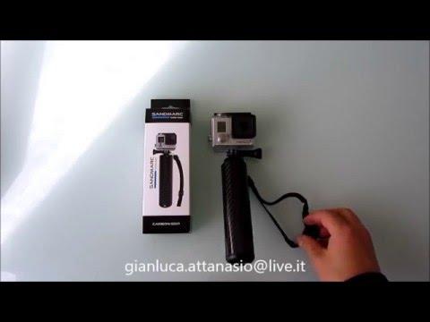Sanmarc Carbon Grip - Asta Cavalletto galleggiante per GoPro Hero