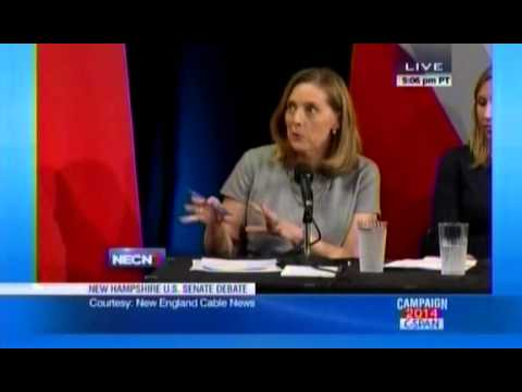 she - Audience Laughs At Jeanne Shaheen's Failure To Answer If She Approves Of Obama (October 21, 2014)