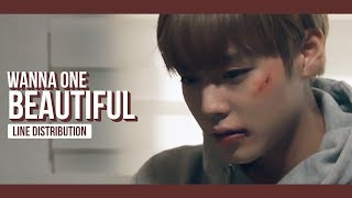 Video WANNA ONE - Beautiful Line Distribution (Color Coded) | 워너원 - 뷰티풀 MP3, 3GP, MP4, WEBM, AVI, FLV Januari 2018