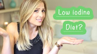 In this video I explain the purpose of the Low iodine diet, and show you what I eat while on it. If you were just put on this diet, I hope you find this video helpful. Stay strong! xo Kristen My blog: http://www.kristenmee.comFacebook: (KristenMee) http://on.fb.me/1cSbM9AInstagram: http://instagram.com/kristen_meeTwitter: https://twitter.com/kristenmeePinterest: http://www.pinterest.com/KristenMee/$10 OFF VITACOST COUPON HERE: http://goo.gl/SNnlQ1The Scale I use:  http://bit.ly/1K34cHlCoupon Code: Fit8KMee for 60% OFF Save money by shopping online http://bit.ly/1sbCIXoWant to send me a post card?PO BOX 51274PHILADELPHIA PA 19115Music: Let's Pretend by Charity Vance http://www.youtube.com/charityvancemusichttp://www.itunes.com/charityvancehttp://www.instagram.com/charityvancehttp://www.charityvance.net/FTC: This is not a sponsored video. Most products mentioned in my videos are purchased by myself. Occasionally, I will have companies send me products (marked with an *) for consideration. I will only feature products that I truly like. All opinions are true, honest & my own, as always!
