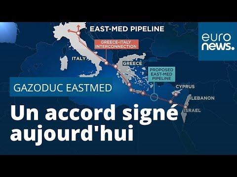 Gazoduc EastMed : un accord signé aujourd'hui à Athènes