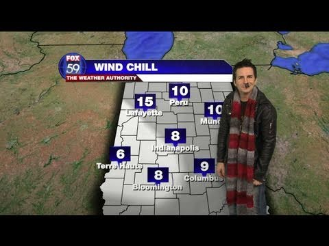 Comedian Hal Sparks Does the Weather on Fox59