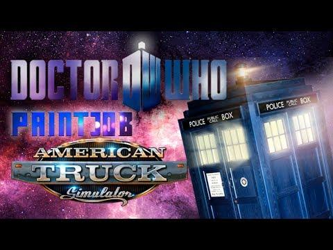 Doctor Who Paintjob Peterbilt 579