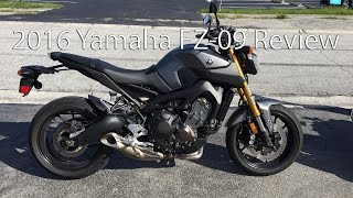 1. 2016 Yamaha FZ 09 Motorcycle Review