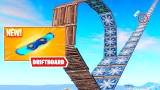 DRIFTBOARD RACE AND BEST TRICKS WITH HOVERBOARD!! DRIFTIN Fortnite