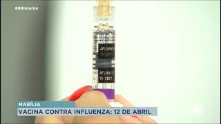 Vacinação  contra Influenza começa dia 12 de abril