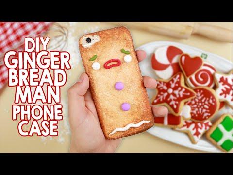 DIY   Gingerbread Man Phone Case - Cover Omino Marzapane