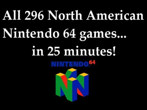 Nintendo 64 - This video briefly shows every single Nintendo 64 game released in North America during the system's life cycle. It does not include any Japanese or PAL excl...
