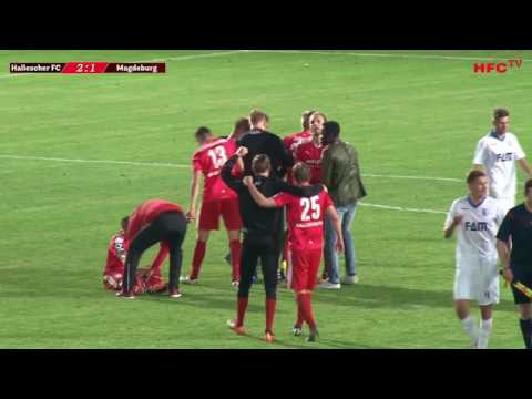 Fußball: Halle - Magdeburg 2:1  | Landespokalfinale Sac ...
