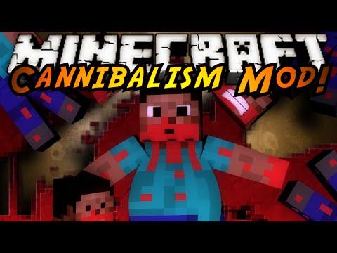 Minecraft Mod Showcase : CANNIBALISM MOD!