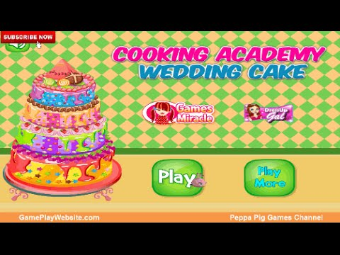 Cooking Academy Wedding Cake Learning Educational Online Game For Girls And All Kids