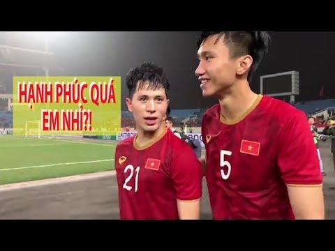Đình Trọng, Văn Hậu làm gì sau trận thắng U.23 Thái Lan? - Thời lượng: 63 giây.