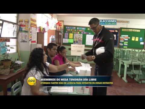 los - El Gobierno dispuso beneficios para los ciudadanos que participarán de las próximas elecciones de octubre como miembros de mesa. ¡Entérate cuáles son! http://www.rpp.com.pe/ Twitter:...