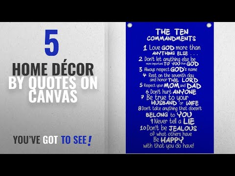 Leadership quotes - Top 10 Home Décor By Quotes On Canvas [ Winter 2018 ]: The Ten Commandments for Kids - Wall Quotes