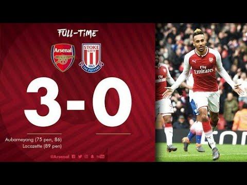 Arsenal vs Stoke City (3:0) All Goals & Extended Highlights - EPL 2/4/2018