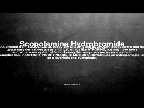 Medical vocabulary: What does Scopolamine Hydrobromide mean