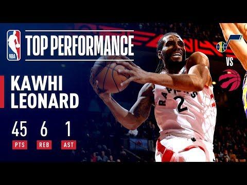 Video: Kawhi Leonard Drops CAREER-HIGH 45 Points | January 1, 2019