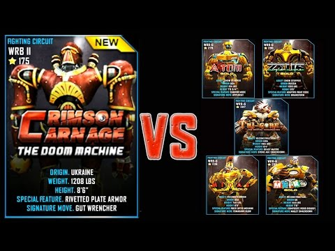 Real Steel WRB FINAL Crimson Carnage VS ALL GOLD ROBOTS Series of fights NEW ROBOT (Живая Сталь)