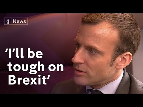 "Emmanuel Macron interview (English): Getting ""tough"" on Brexit (видео)"