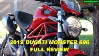1. DUCATI Monster 696 Review - A Good Starter Bike? Yes it is, but...