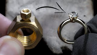 Video I TURN 2 HEX NUTS into a 1 Ct DIAMOND RING MP3, 3GP, MP4, WEBM, AVI, FLV Juni 2019