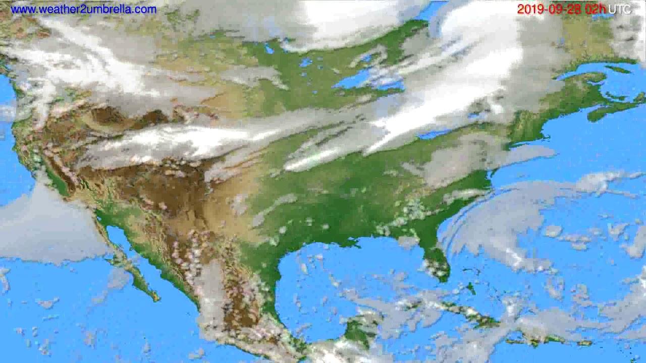 Cloud forecast USA & Canada // modelrun: 12h UTC 2019-09-25
