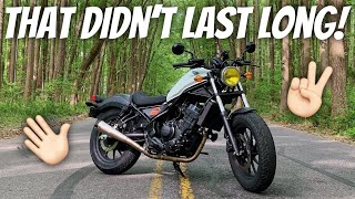 4. Watch This BEFORE Buying A Honda Rebel 300!!! We BOTH Sold Ours! (Watch It ALL To Understand...)
